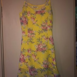 Lucca Couture Yellow Floral Fit&Flare XS